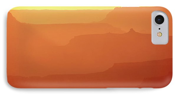 Orange Sunset At Grand Canyon IPhone Case by RicardMN Photography