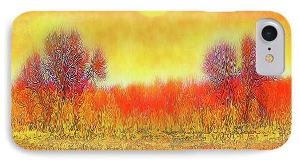 Orange Sunset Shimmer - Field In Boulder County Colorado IPhone Case by Joel Bruce Wallach