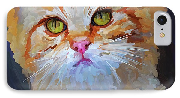 Orange Tabby Cat - Square Phone Case by Jai Johnson