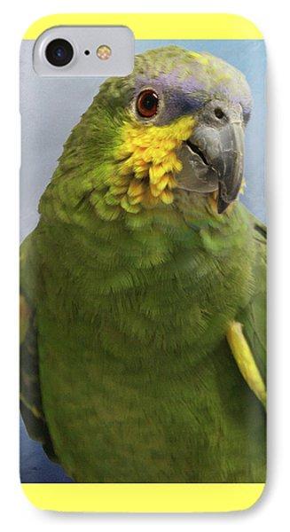 Orange Wing Amazon Parrot IPhone Case by Victoria Harrington