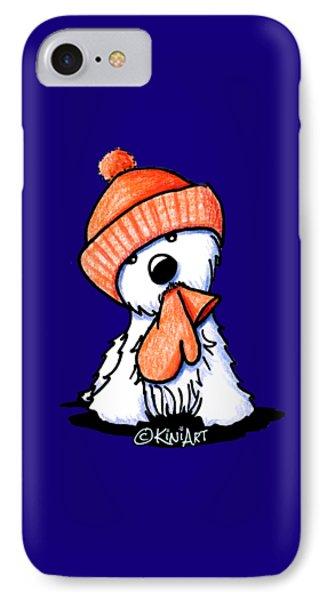 Orange Winter Westie IPhone Case