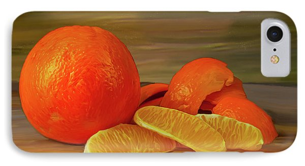 Oranges 01 IPhone Case by Wally Hampton