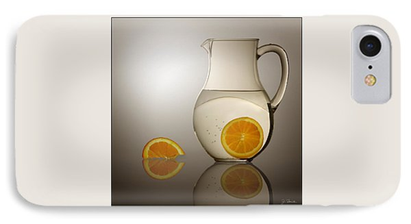IPhone Case featuring the photograph Oranges And Water Pitcher by Joe Bonita