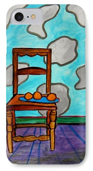 Oranges On A Blue Plate Phone Case by John Williams