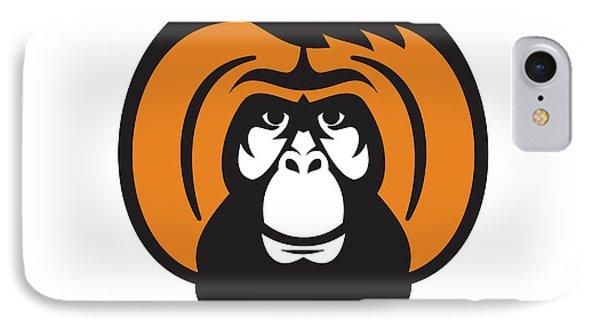 Orangutan Bearded Tussled Hair Retro IPhone Case