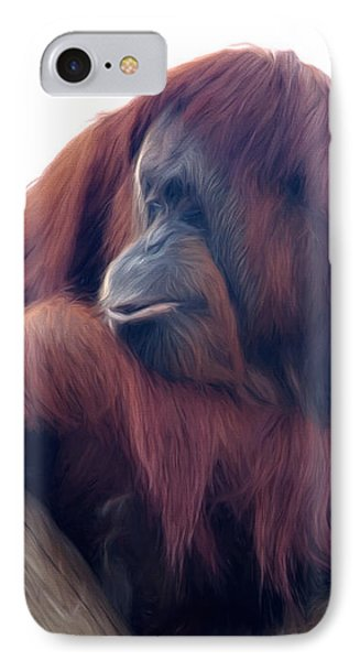 IPhone Case featuring the photograph Orangutan - Color Version by Lana Trussell