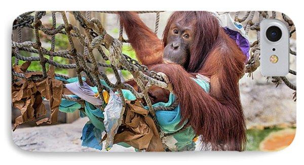 Orangutan In Rope Net IPhone Case