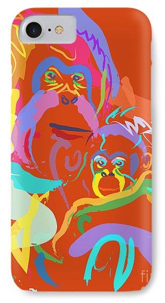 Orangutan Mom And Baby IPhone Case by Go Van Kampen