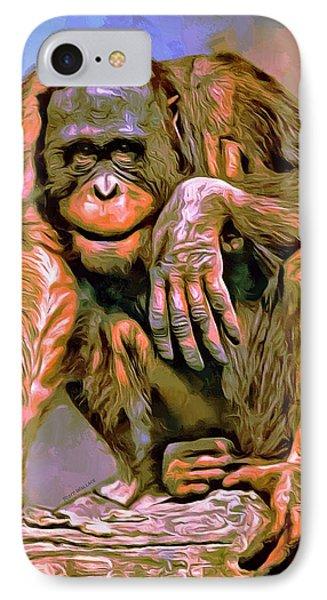 Orangutan Portrait IPhone Case