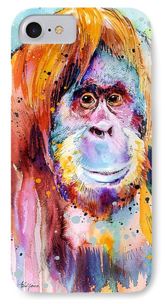 Orangutan  IPhone 7 Case by Slavi Aladjova