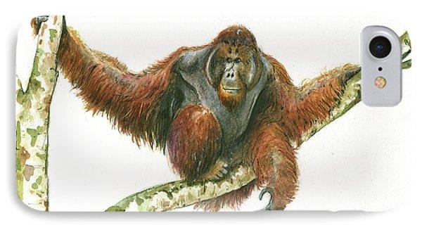 Orangutang IPhone 7 Case by Juan Bosco