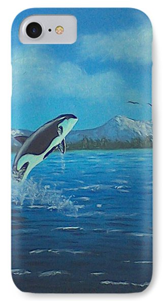 Orca IPhone Case by Brenda Bonfield