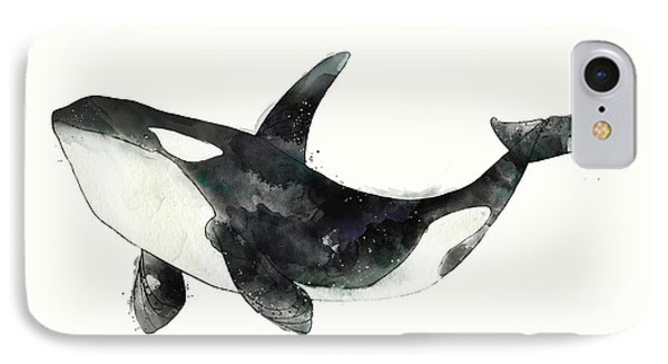 Orca From Arctic And Antarctic Chart IPhone Case by Amy Hamilton