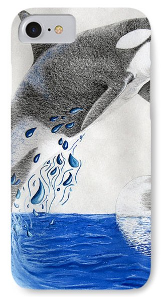 IPhone Case featuring the drawing Orca by Mayhem Mediums