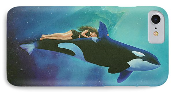 Orca Rider IPhone Case by Cecilia Brendel