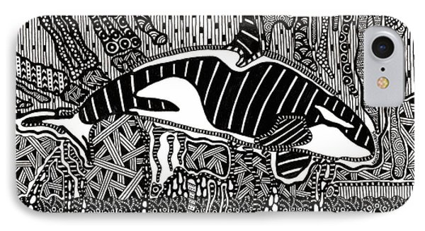 Orca Tangle IPhone Case by Molly Williams