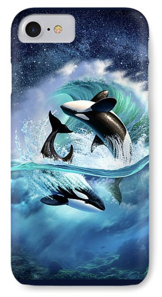 Dolphin iPhone 7 Case - Orca Wave by Jerry LoFaro