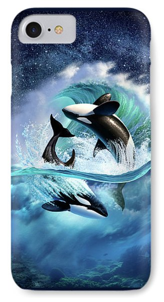 Orca Wave IPhone Case by Jerry LoFaro