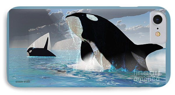 Orca Whales Phone Case by Corey Ford