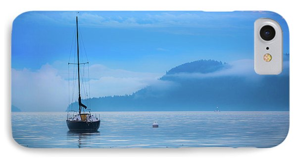Orcas Sailboat Phone Case by Inge Johnsson