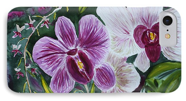 IPhone Case featuring the painting Orchid At Aos 2010 by Donna Walsh