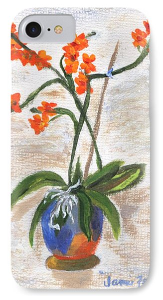 IPhone Case featuring the painting Orchid by Jamie Frier