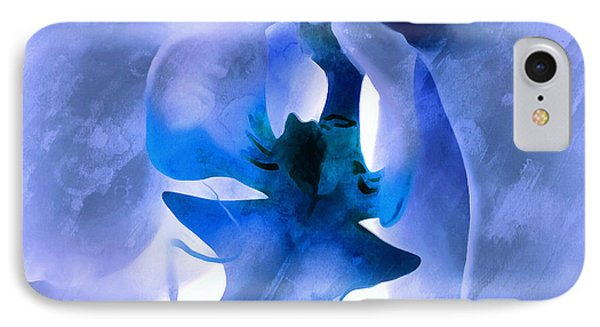 Orchid Of Blue IPhone Case by Krissy Katsimbras