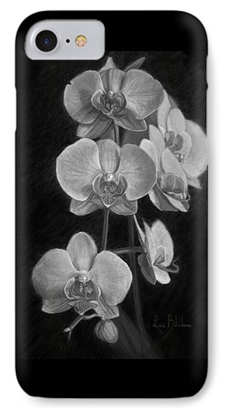 Orchids - Black And White IPhone Case by Lucie Bilodeau