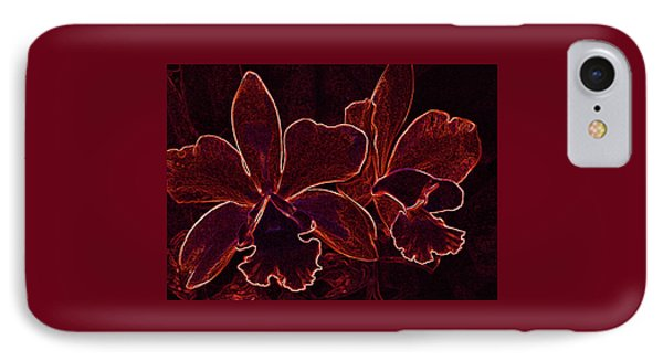 Orchids - For Pele IPhone Case by Kerri Ligatich
