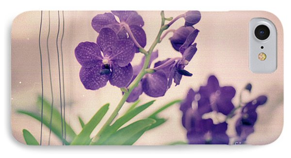 IPhone Case featuring the photograph Orchids In Purple  by Ana V Ramirez
