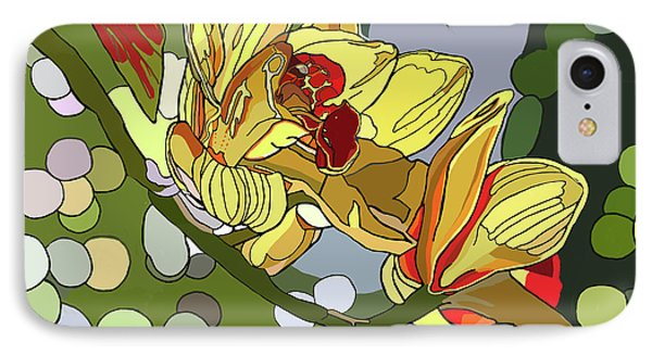 Orchids In Sunlight IPhone Case by Jamie Downs