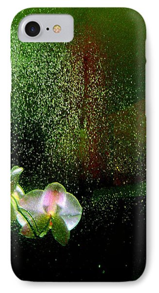 Orchids In The Rain IPhone Case by Shirley Sirois