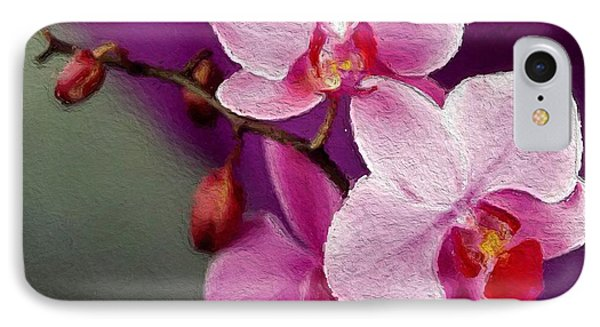 Orchids In Violets IPhone Case by Anthony Fishburne
