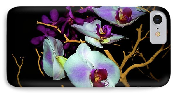 IPhone Case featuring the photograph Orchids In Water Color by Diana Mary Sharpton