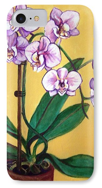IPhone Case featuring the painting Orchids by Laura Aceto