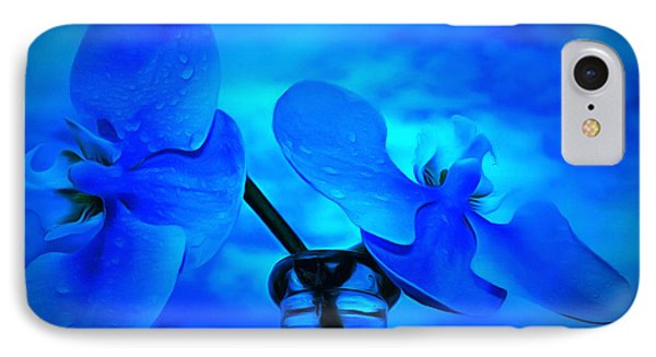 Orchids Of Blue IPhone Case