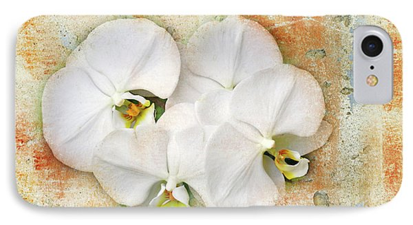 Orchids Upon The Rough Phone Case by Andee Design