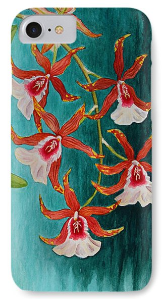 Orchids - Volcano Queen IPhone Case