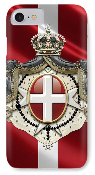 Order Of Malta Coat Of Arms Over Flag IPhone Case