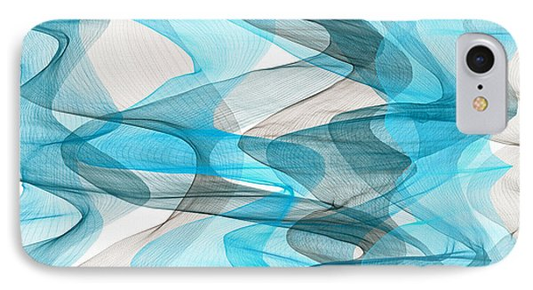 Orderly Blues And Grays IPhone Case by Lourry Legarde