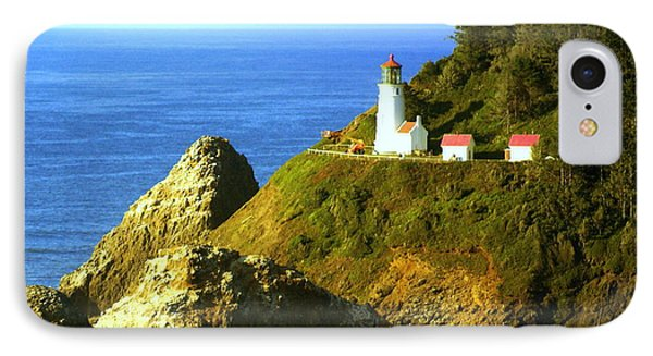 Oregan Lighthouse Phone Case by Marty Koch