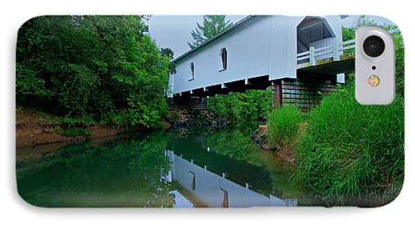 Oregon Covered Bridge IPhone Case by Sean Sarsfield