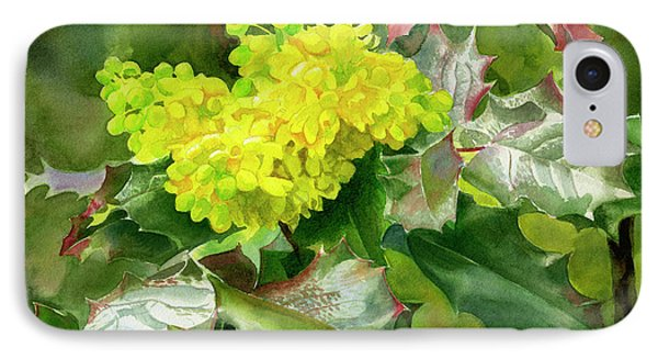 Oregon Grape Blossoms With Leaves IPhone 7 Case