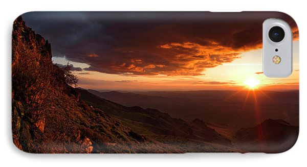 IPhone Case featuring the photograph Oregon Mountains Sunrise by Leland D Howard
