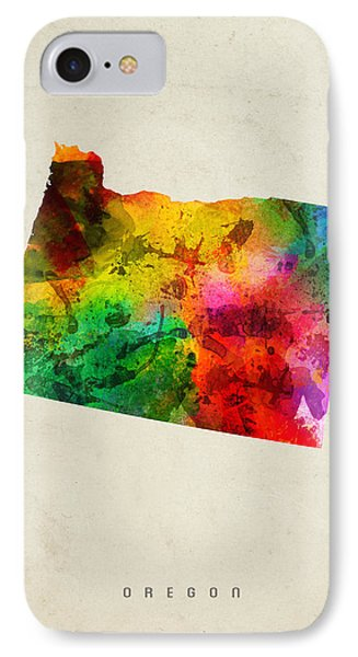 Oregon State Map 01 IPhone 7 Case
