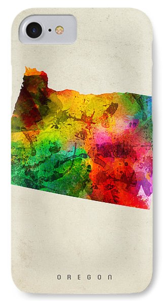 Oregon State Map 01 IPhone Case by Aged Pixel