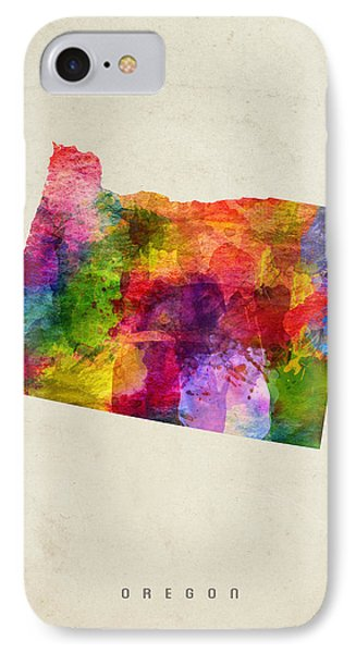 Oregon State Map 02 IPhone 7 Case by Aged Pixel