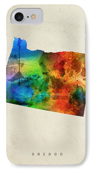 Oregon State Map 03 IPhone 7 Case