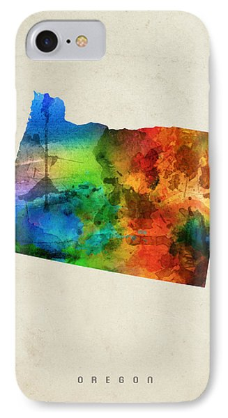 Oregon State Map 03 IPhone 7 Case by Aged Pixel