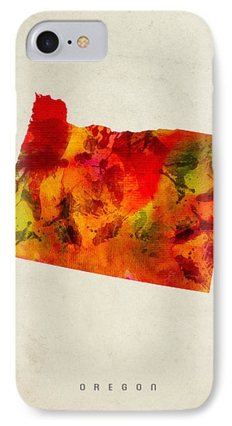 Oregon State Map 04 IPhone Case by Aged Pixel